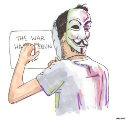 One night when I was in Istanbul this Spring, I saw a group of young Turks walking around the back alley's of Istiklal Caddesi with Guy Fawks masks on, who claimed to be members of Anonymous. They were putting up warnings to the Turkish Government over internet censorship.