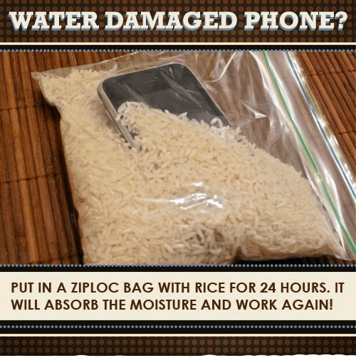 water damaged iPhone