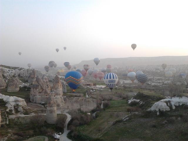 土耳其 cappadocia goreme 熱氣球 升空