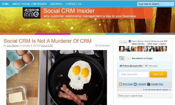 Social CRM Insider blog