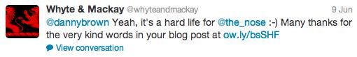 whyte and mackay tweet