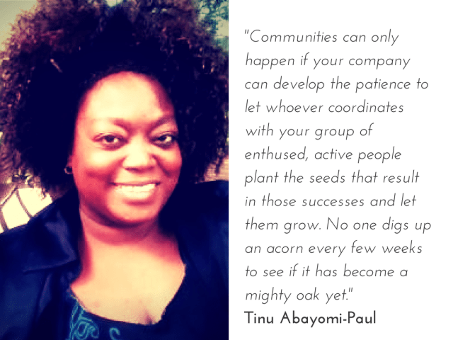 Tinu on community