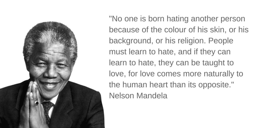 Nelson Mandela hate quote
