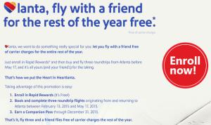 Atlanta Companion Pass Offer