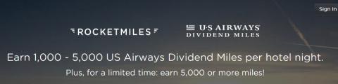 Rocketmiles - US Airway