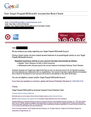 Redcard Email