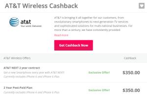 AT T Wireless TopCashBack  350