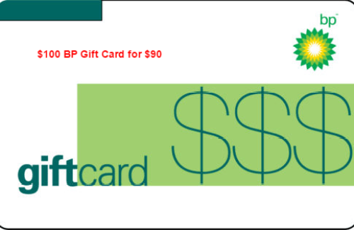 100 BP Gift Card for  90 Mail Delivery