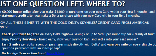 SkyMiles Amex Offer 60k