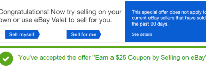ebay sell 25 activation