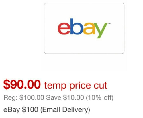 10% Off eBay Gift Cards at Target - Danny the Deal Guru