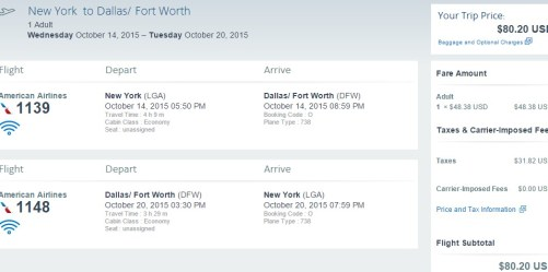 AA Flight Deal