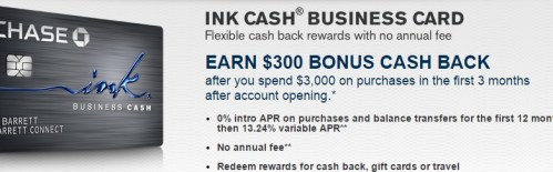 Chase Ink Cash Business Credit Card