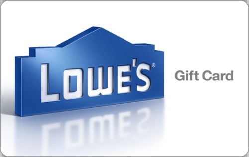 $50 Lowe's Gift Cards for $45 Plus 5X, Limit 6