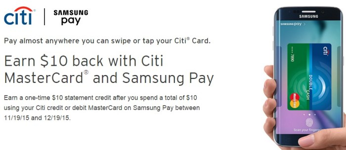 MasterCard   Citi   Samsung Pay