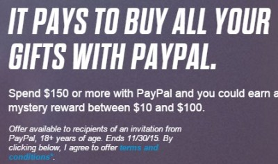 PayPal mystery promo