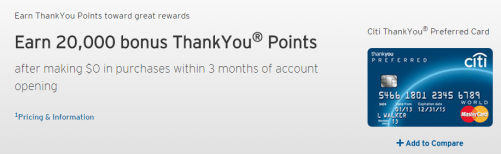 Citi ThankYou® Preferred Card