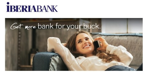 IBERIABANK Checking bonus 300