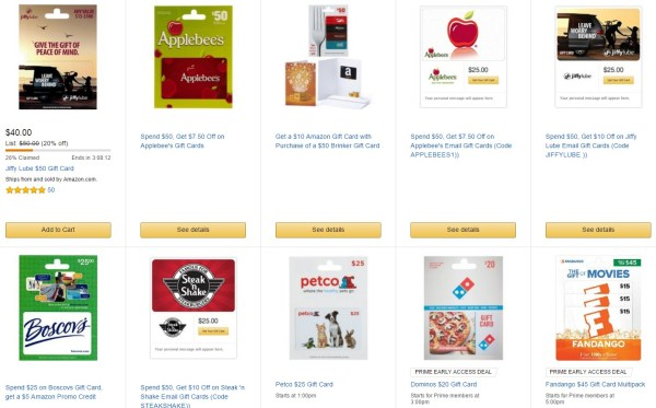 discounted gift cards through amazon gold box deals