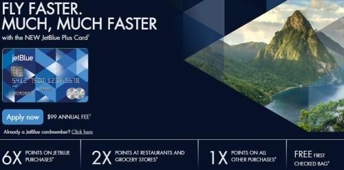 JetBlue Credit Plus card