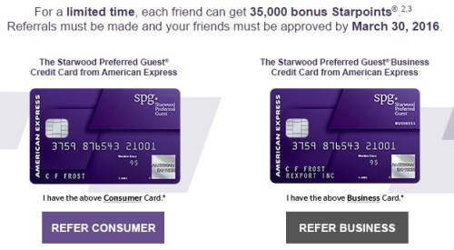 Starwood Preferred Guest Referrals