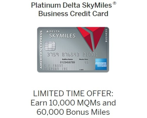 Amex platinum delta business 60k bonus 10k mqms and 100 credit american express delta skymiles platinum businesseg reheart Gallery