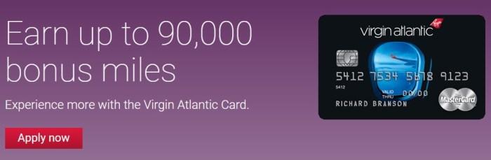 Virgin Atlantic card 90k bonus