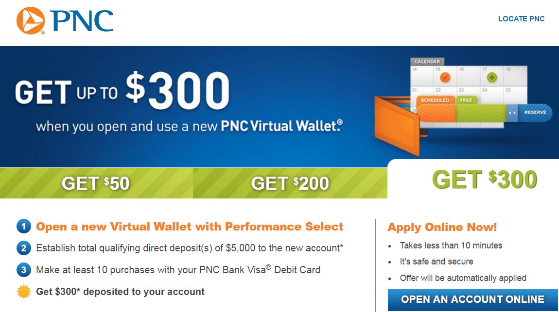 pnc bank $300 coupon