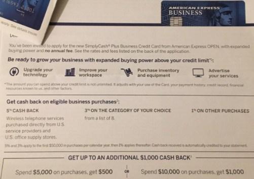 Amex Simplycash Plus Business Card 1000 Bonus Targeted Danny