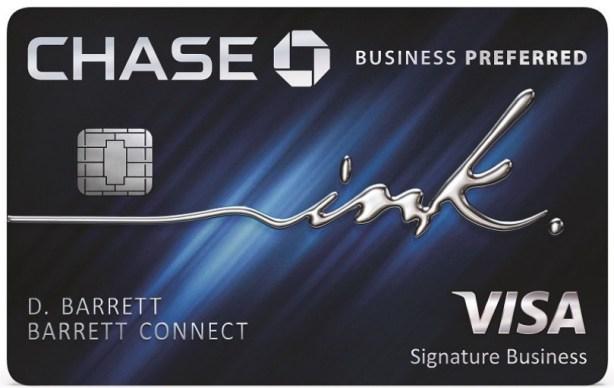 160K Bonus for Chase Ink Preferred