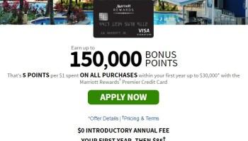 chase marriott rewards premier card 150k bonus with 30k spend - Marriott Rewards Credit Card No Annual Fee