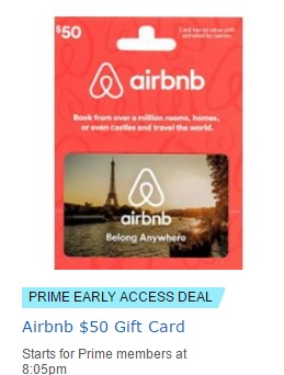 Discounted Airbnb Gift Card Through Amazon Lightning Deals - Danny ...