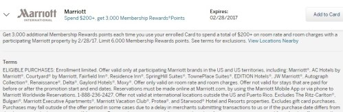 Amex Offers Spend 200 At Marriott Get 3000 Mr Points 2x Stack
