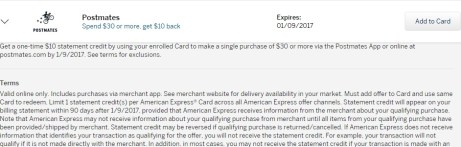 Amex Offers 10 Off 30 At Postmates Danny The Deal Guru