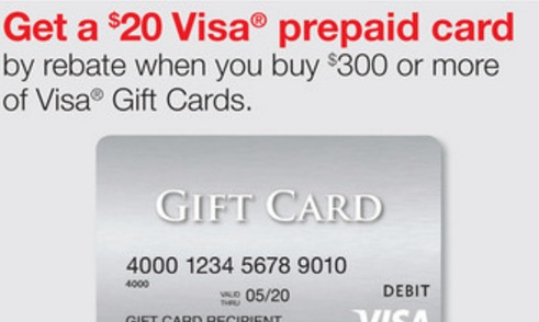 staples visa gift card rebate staples get 20 rebate on 300 visa gift cards plus 5x 2992