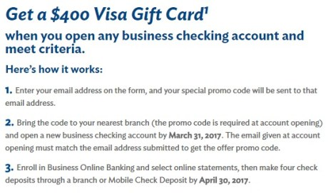 Business Checking Account Bonus