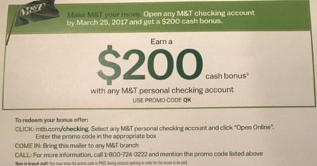 Checking Account Bonus