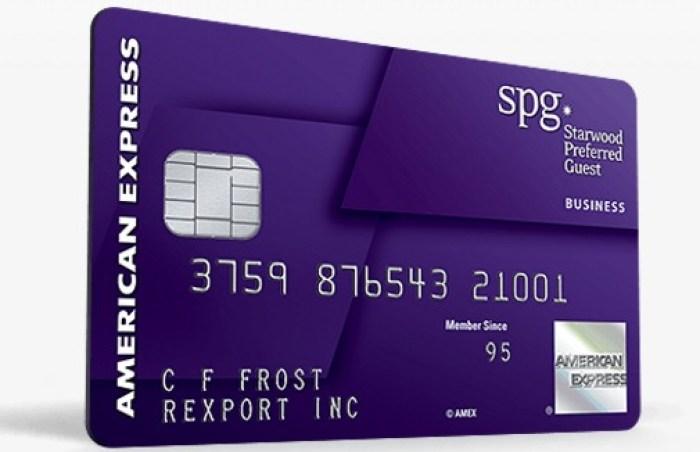 SPG Business Card Spending Bonus