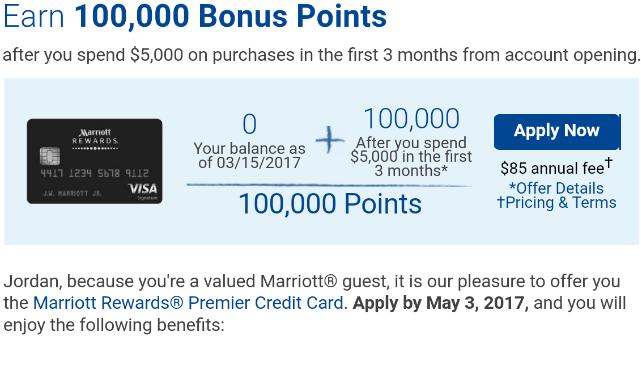 Bonus For Chase Marriott Rewards Card