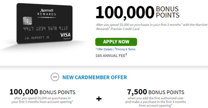 Chase Marriott Rewards 100K