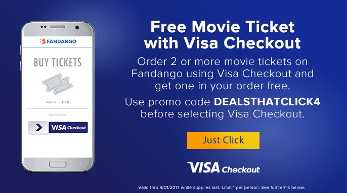 Free Movie Ticket At Fandango With Visa Checkout Danny
