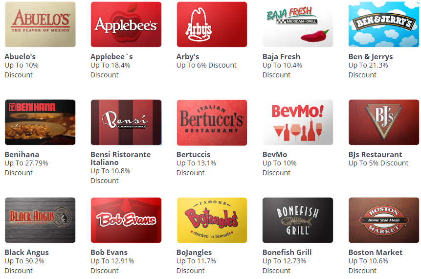 CardCash, Extra 7% Off On All Restaurant Gift Cards Plus 5x UR ...