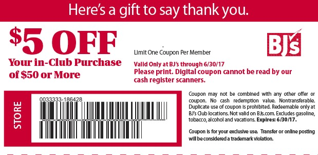 picture about Bjs Printable Coupons known as Bjs subscription specials 2019
