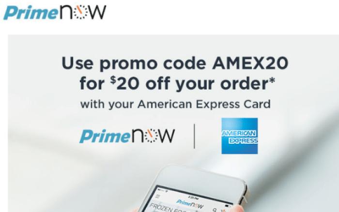 Amazon PrimeNow discount