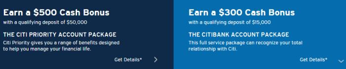 citi checking bonus