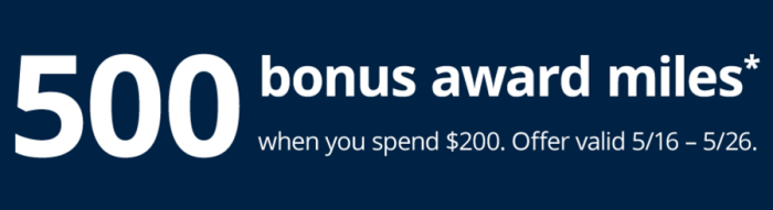MileagePlus Shopping mall bonus