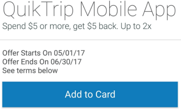 Amex Offers, Free Money At QuikTrip (Targeted) - Danny the