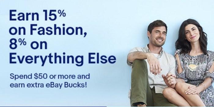 Earn up to 15 eBay Bucks