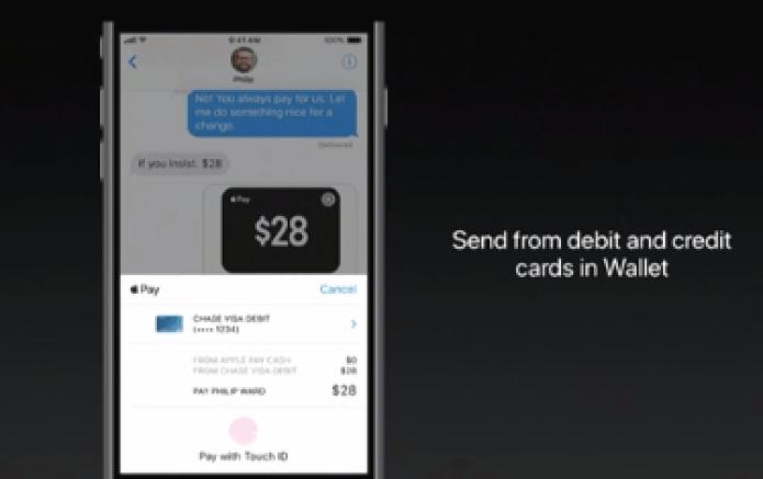 Apple WWDC 2017 Apple Pay P2P
