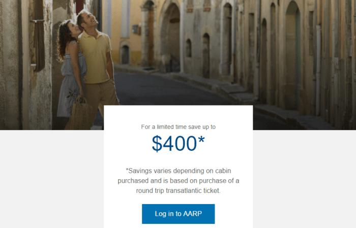 British Airways AARP 400 discount